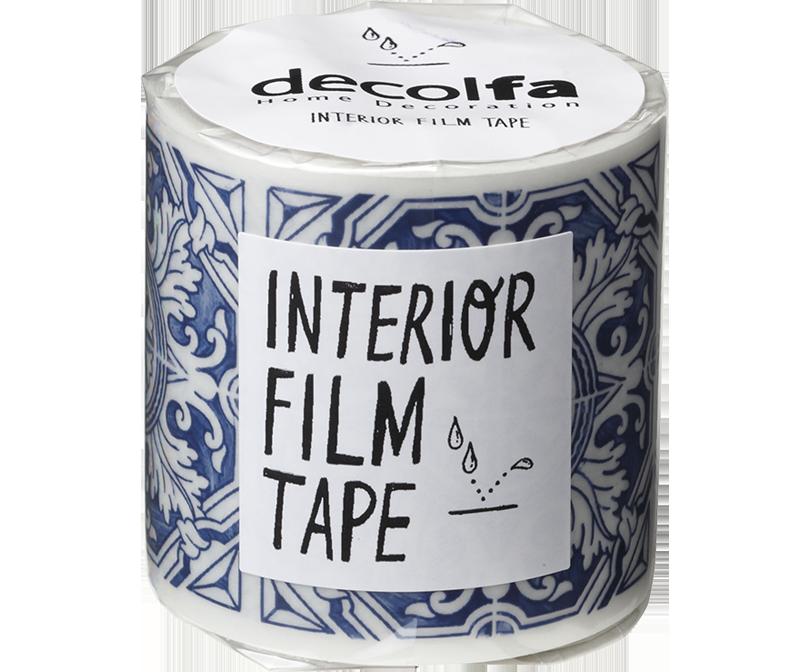 decolfa インテリア フィルムテープ50mm タイル/ブルー