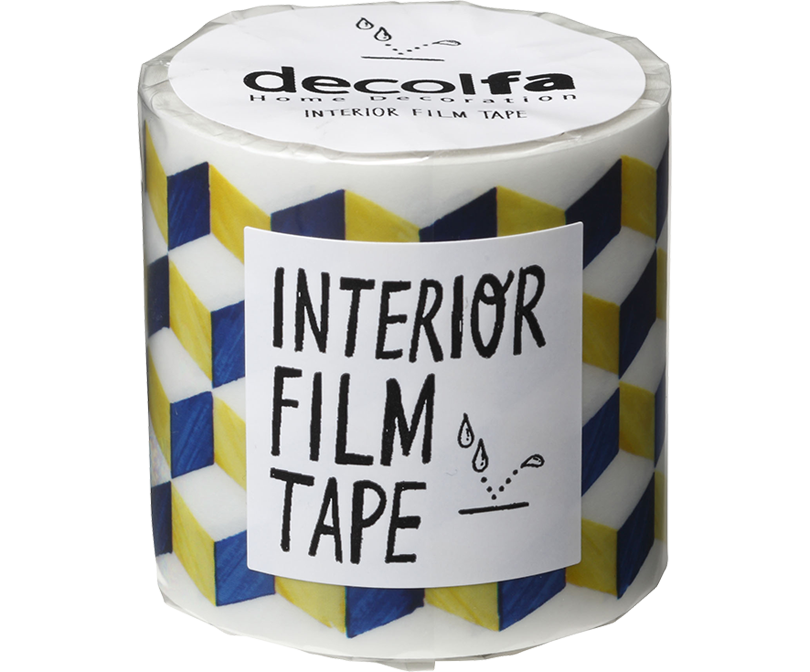 decolfa インテリア フィルムテープ50mm ジオメトリック/ブルーY