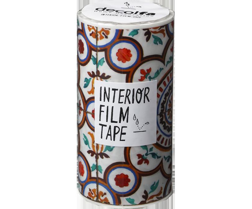 decolfa インテリア フィルムテープ100mm タイル/イエロー