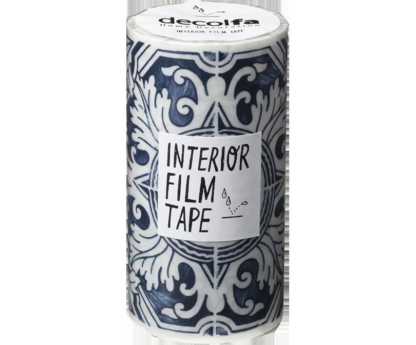 decolfa インテリア フィルムテープ100mm タイル/シルバー