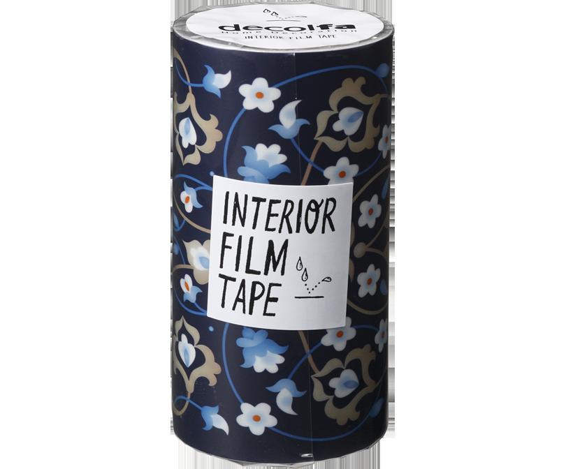 decolfa インテリア フィルムテープ100mm シノワズリ/ブルー