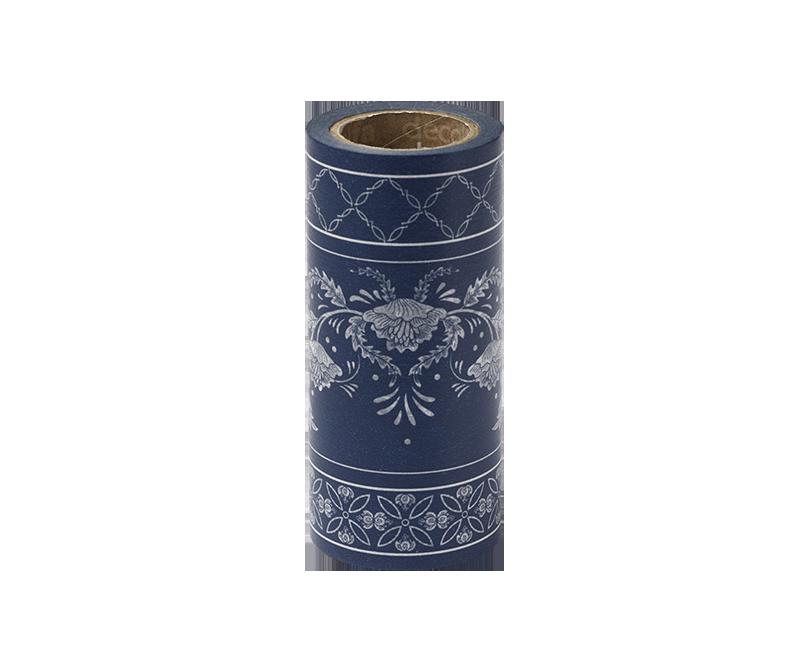 decolfa インテリアマスキングテープ100mm シノワズリ/ブルー