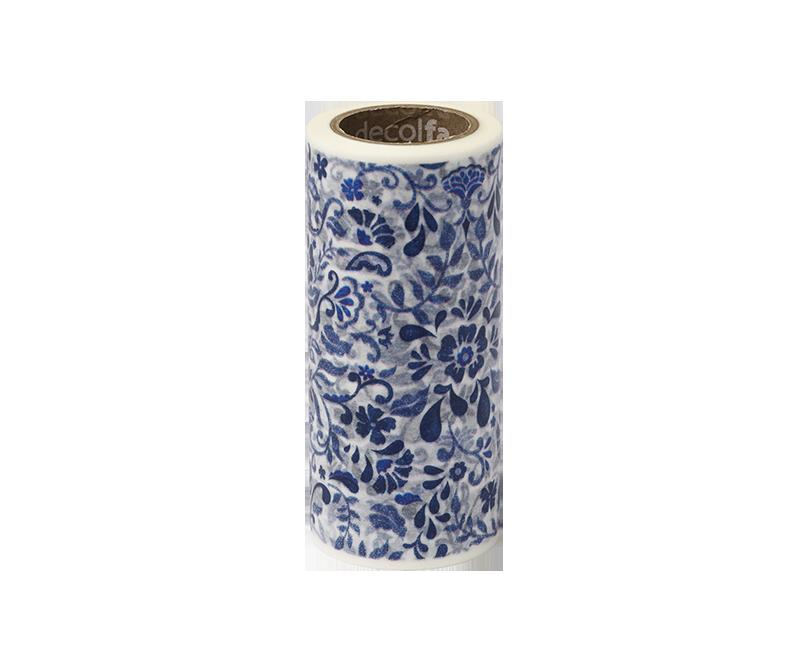 decolfa インテリアマスキングテープ100mm ダマスク/ブルー