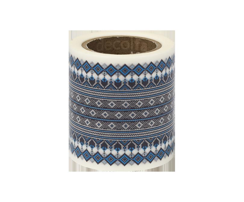 decolfa インテリアマスキングテープ50mm チロリアン/ブルー