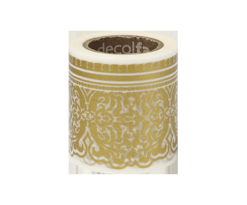 decolfa インテリアマスキングテープ50mm ダマスク/ライトゴールド