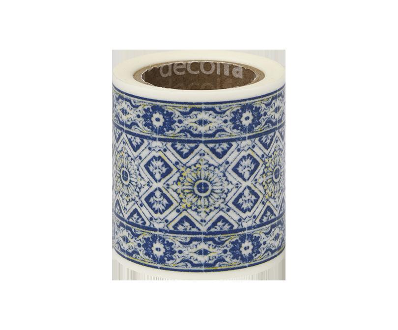decolfa インテリアマスキングテープ50mm タイル/ブルーW