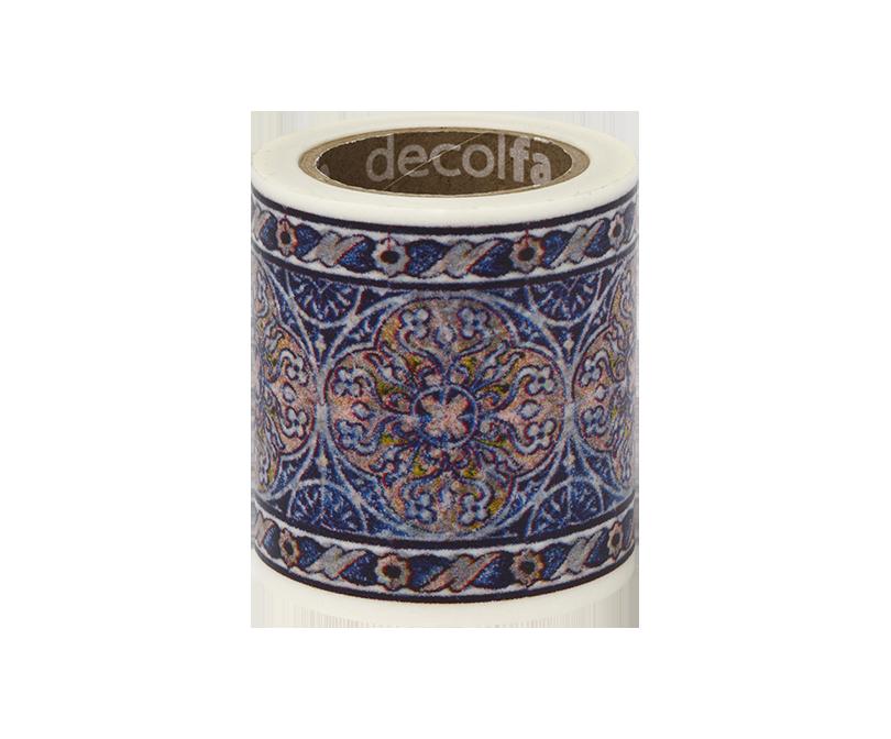 decolfa インテリアマスキングテープ50mm タイル/ブルーY