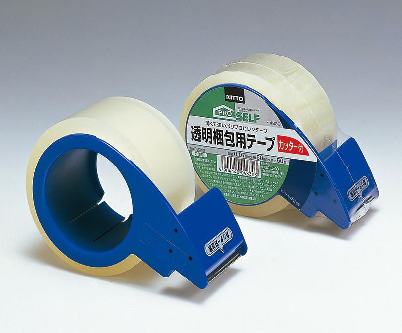 透明梱包用テープ No.3303 CT カッター付き