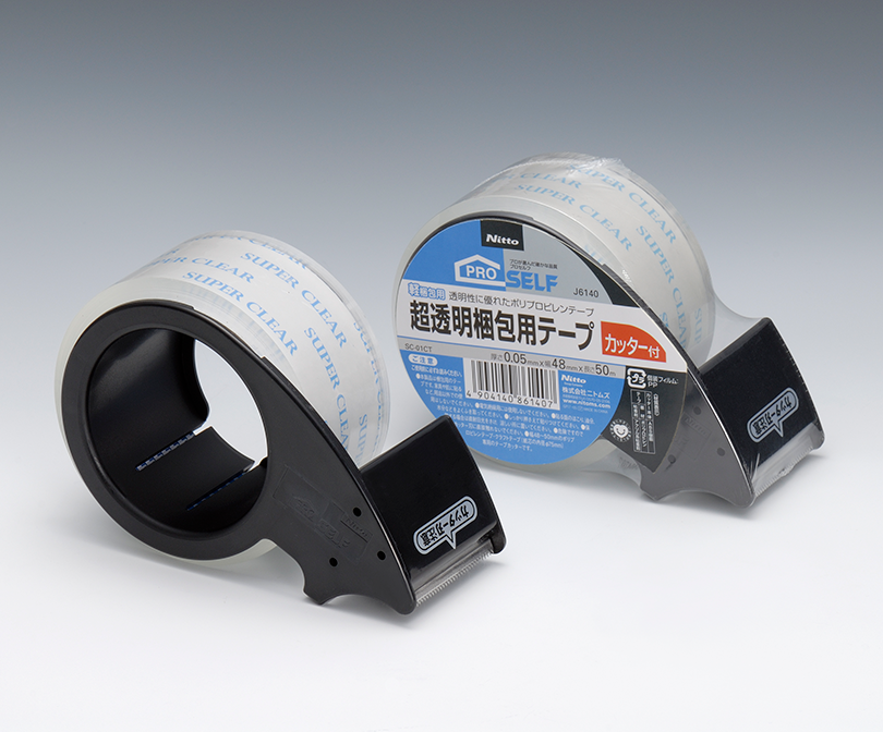 超透明梱包用テープ カッター付き SC-01CT