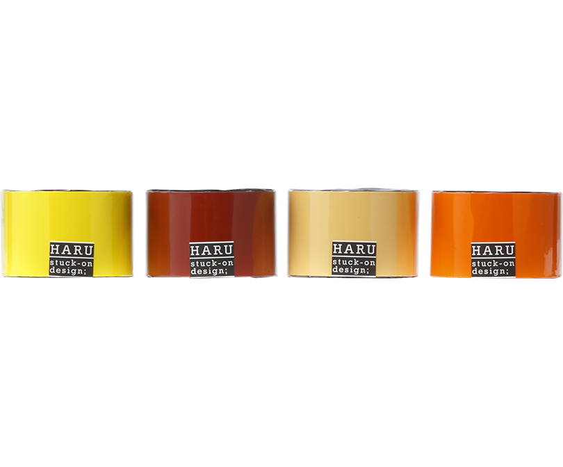 HARU stuck-on design; bright earth PET tape 150