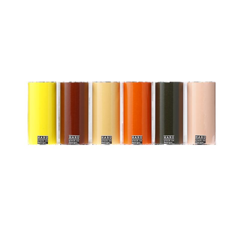 HARU stuck-on design; bright earth washi tape 150