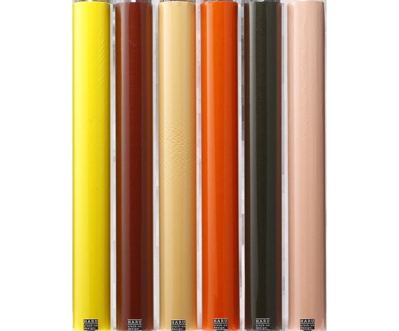 HARU stuck-on design; bright earth washi tape 600