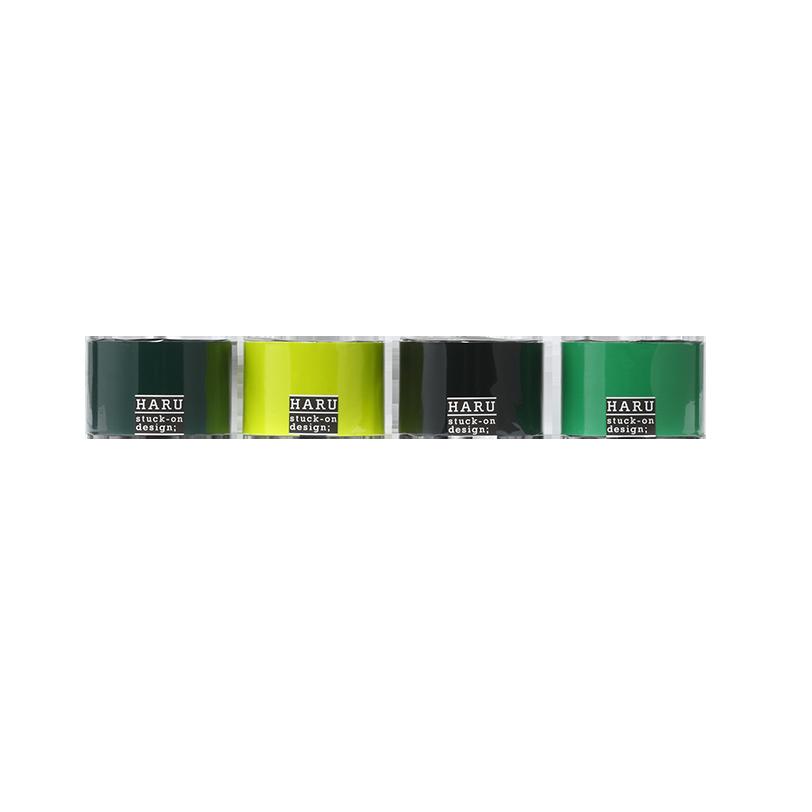 HARU stuck-on design; deep forest PET tape 50