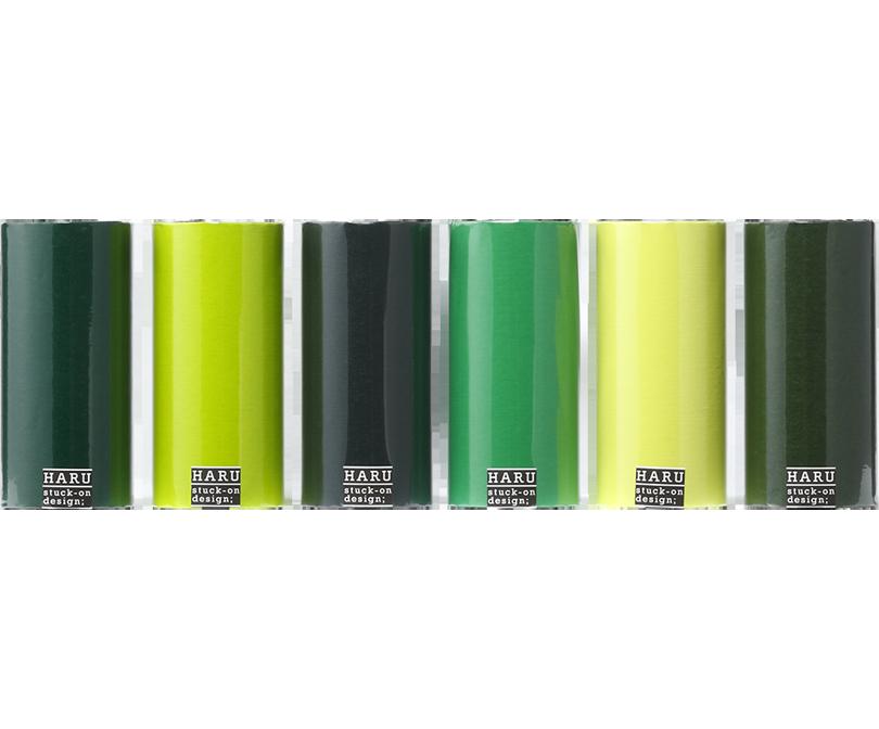 HARU stuck-on design; deep forest washi tape 150