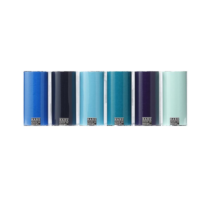 HARU stuck-on design; endless ocean washi tape 150