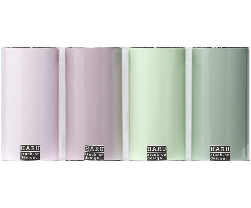 HARU stuck-on design; dry fiowers PET tape 150