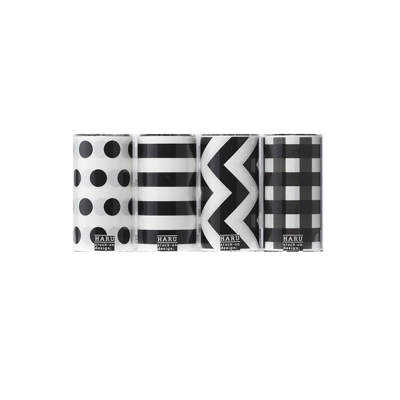 HARU stuck-on design; graphic geometoric OPP tape 150