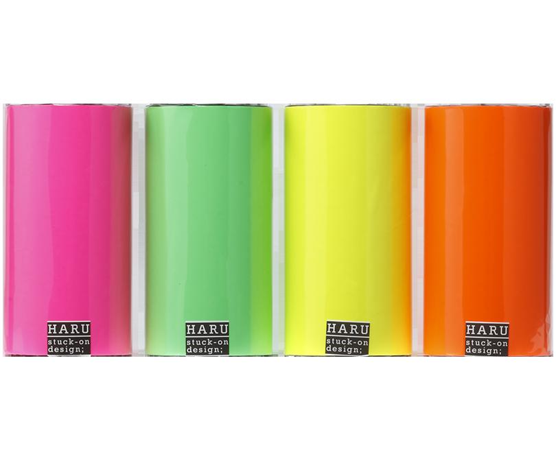 HARU stuck-on design; neon candies PET tape 150