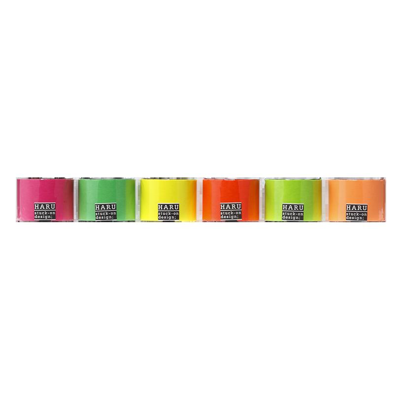 HARU stuck-on design; neon candies washi tape 50