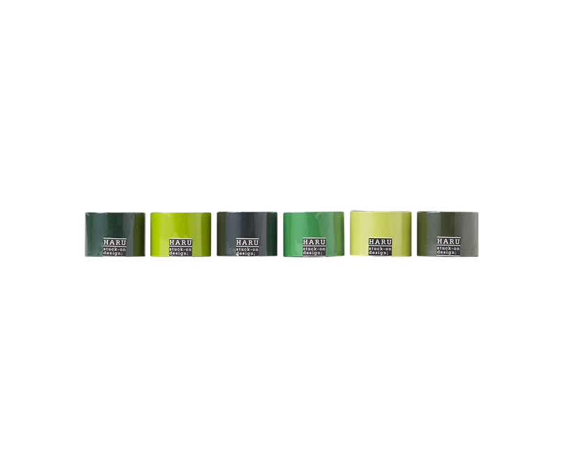 HARU stuck-on design; deep forest washi tape 50