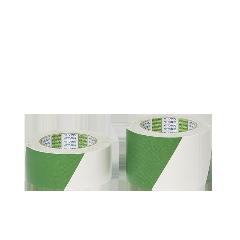 安全表示布テープ 緑白